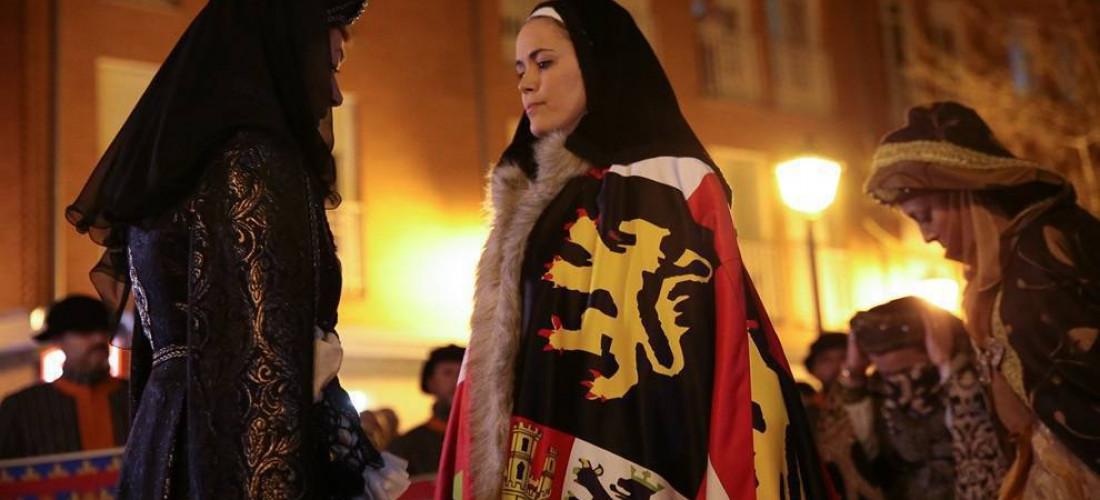 Tordesillas viaja en el tiempo para revivir la llegada de la Reina Juana I de Castilla a la villa